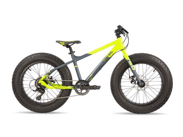 s'cool XTfat 20 9-S - Vélo enfant - jaune/gris